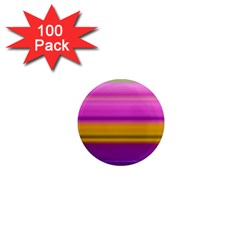 Stripes Colorful Background Colorful Pink Red Purple Green Yellow Striped Wallpaper 1  Mini Magnets (100 Pack)