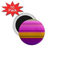 Stripes Colorful Background Colorful Pink Red Purple Green Yellow Striped Wallpaper 1 75  Magnets (10 Pack)