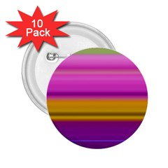 Stripes Colorful Background Colorful Pink Red Purple Green Yellow Striped Wallpaper 2 25  Buttons (10 Pack)