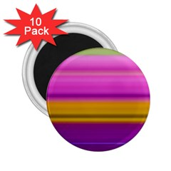 Stripes Colorful Background Colorful Pink Red Purple Green Yellow Striped Wallpaper 2.25  Magnets (10 pack)