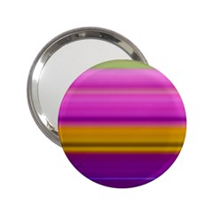 Stripes Colorful Background Colorful Pink Red Purple Green Yellow Striped Wallpaper 2 25  Handbag Mirrors