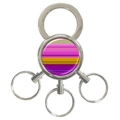 Stripes Colorful Background Colorful Pink Red Purple Green Yellow Striped Wallpaper 3 Ring Key Chains