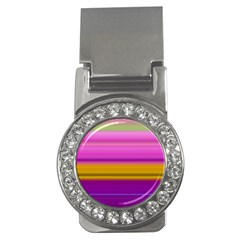 Stripes Colorful Background Colorful Pink Red Purple Green Yellow Striped Wallpaper Money Clips (cz)