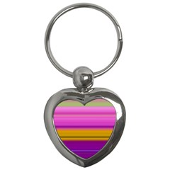 Stripes Colorful Background Colorful Pink Red Purple Green Yellow Striped Wallpaper Key Chains (heart)