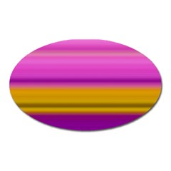 Stripes Colorful Background Colorful Pink Red Purple Green Yellow Striped Wallpaper Oval Magnet