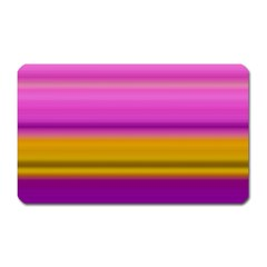 Stripes Colorful Background Colorful Pink Red Purple Green Yellow Striped Wallpaper Magnet (rectangular)
