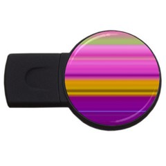 Stripes Colorful Background Colorful Pink Red Purple Green Yellow Striped Wallpaper Usb Flash Drive Round (2 Gb)