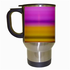 Stripes Colorful Background Colorful Pink Red Purple Green Yellow Striped Wallpaper Travel Mugs (white)