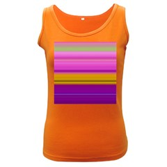 Stripes Colorful Background Colorful Pink Red Purple Green Yellow Striped Wallpaper Women s Dark Tank Top