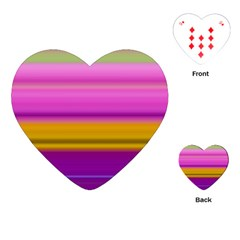 Stripes Colorful Background Colorful Pink Red Purple Green Yellow Striped Wallpaper Playing Cards (heart)