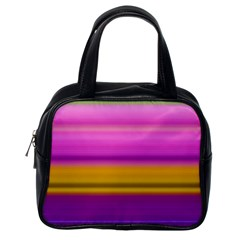 Stripes Colorful Background Colorful Pink Red Purple Green Yellow Striped Wallpaper Classic Handbags (one Side)