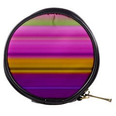 Stripes Colorful Background Colorful Pink Red Purple Green Yellow Striped Wallpaper Mini Makeup Bags