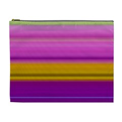 Stripes Colorful Background Colorful Pink Red Purple Green Yellow Striped Wallpaper Cosmetic Bag (xl)