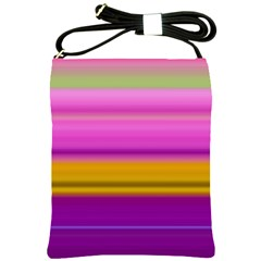 Stripes Colorful Background Colorful Pink Red Purple Green Yellow Striped Wallpaper Shoulder Sling Bags