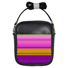 Stripes Colorful Background Colorful Pink Red Purple Green Yellow Striped Wallpaper Girls Sling Bags