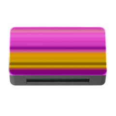 Stripes Colorful Background Colorful Pink Red Purple Green Yellow Striped Wallpaper Memory Card Reader with CF