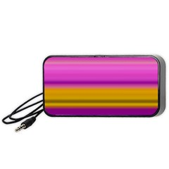 Stripes Colorful Background Colorful Pink Red Purple Green Yellow Striped Wallpaper Portable Speaker (Black)