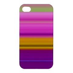 Stripes Colorful Background Colorful Pink Red Purple Green Yellow Striped Wallpaper Apple iPhone 4/4S Premium Hardshell Case