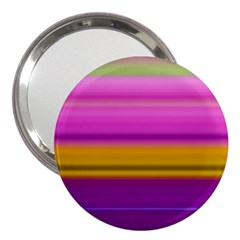Stripes Colorful Background Colorful Pink Red Purple Green Yellow Striped Wallpaper 3  Handbag Mirrors