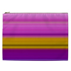 Stripes Colorful Background Colorful Pink Red Purple Green Yellow Striped Wallpaper Cosmetic Bag (XXL)