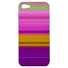 Stripes Colorful Background Colorful Pink Red Purple Green Yellow Striped Wallpaper Apple iPhone 5 Hardshell Case