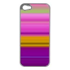 Stripes Colorful Background Colorful Pink Red Purple Green Yellow Striped Wallpaper Apple iPhone 5 Case (Silver)