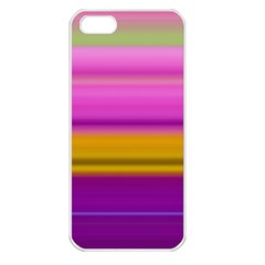 Stripes Colorful Background Colorful Pink Red Purple Green Yellow Striped Wallpaper Apple iPhone 5 Seamless Case (White)