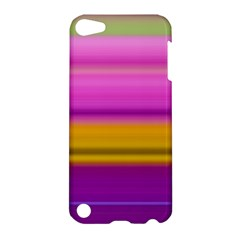 Stripes Colorful Background Colorful Pink Red Purple Green Yellow Striped Wallpaper Apple iPod Touch 5 Hardshell Case