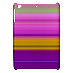 Stripes Colorful Background Colorful Pink Red Purple Green Yellow Striped Wallpaper Apple iPad Mini Hardshell Case