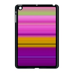 Stripes Colorful Background Colorful Pink Red Purple Green Yellow Striped Wallpaper Apple iPad Mini Case (Black)