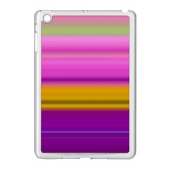 Stripes Colorful Background Colorful Pink Red Purple Green Yellow Striped Wallpaper Apple iPad Mini Case (White)
