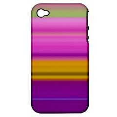 Stripes Colorful Background Colorful Pink Red Purple Green Yellow Striped Wallpaper Apple Iphone 4/4s Hardshell Case (pc+silicone)