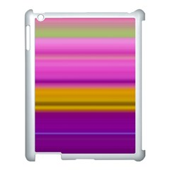 Stripes Colorful Background Colorful Pink Red Purple Green Yellow Striped Wallpaper Apple iPad 3/4 Case (White)