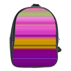 Stripes Colorful Background Colorful Pink Red Purple Green Yellow Striped Wallpaper School Bags (xl)