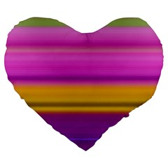 Stripes Colorful Background Colorful Pink Red Purple Green Yellow Striped Wallpaper Large 19  Premium Heart Shape Cushions