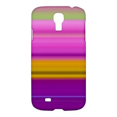 Stripes Colorful Background Colorful Pink Red Purple Green Yellow Striped Wallpaper Samsung Galaxy S4 I9500/i9505 Hardshell Case