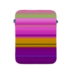 Stripes Colorful Background Colorful Pink Red Purple Green Yellow Striped Wallpaper Apple iPad 2/3/4 Protective Soft Cases