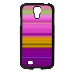 Stripes Colorful Background Colorful Pink Red Purple Green Yellow Striped Wallpaper Samsung Galaxy S4 I9500/ I9505 Case (Black)
