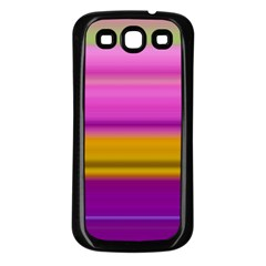 Stripes Colorful Background Colorful Pink Red Purple Green Yellow Striped Wallpaper Samsung Galaxy S3 Back Case (Black)