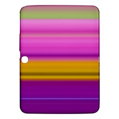 Stripes Colorful Background Colorful Pink Red Purple Green Yellow Striped Wallpaper Samsung Galaxy Tab 3 (10.1 ) P5200 Hardshell Case