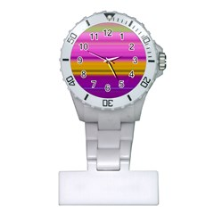 Stripes Colorful Background Colorful Pink Red Purple Green Yellow Striped Wallpaper Plastic Nurses Watch