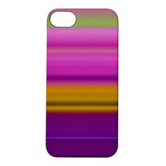 Stripes Colorful Background Colorful Pink Red Purple Green Yellow Striped Wallpaper Apple iPhone 5S/ SE Hardshell Case