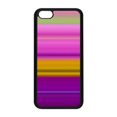 Stripes Colorful Background Colorful Pink Red Purple Green Yellow Striped Wallpaper Apple iPhone 5C Seamless Case (Black)