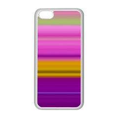 Stripes Colorful Background Colorful Pink Red Purple Green Yellow Striped Wallpaper Apple iPhone 5C Seamless Case (White)