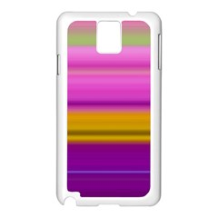Stripes Colorful Background Colorful Pink Red Purple Green Yellow Striped Wallpaper Samsung Galaxy Note 3 N9005 Case (White)
