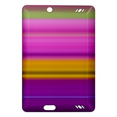 Stripes Colorful Background Colorful Pink Red Purple Green Yellow Striped Wallpaper Amazon Kindle Fire HD (2013) Hardshell Case