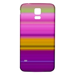 Stripes Colorful Background Colorful Pink Red Purple Green Yellow Striped Wallpaper Samsung Galaxy S5 Back Case (White)