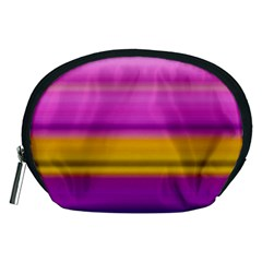Stripes Colorful Background Colorful Pink Red Purple Green Yellow Striped Wallpaper Accessory Pouches (Medium)
