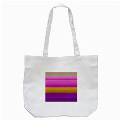 Stripes Colorful Background Colorful Pink Red Purple Green Yellow Striped Wallpaper Tote Bag (White)