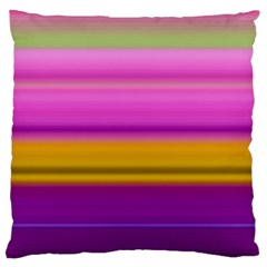 Stripes Colorful Background Colorful Pink Red Purple Green Yellow Striped Wallpaper Large Flano Cushion Case (two Sides)